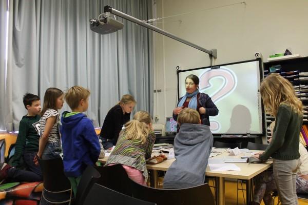 Gastles Mieke van Dixhoorn op de Galvanischool